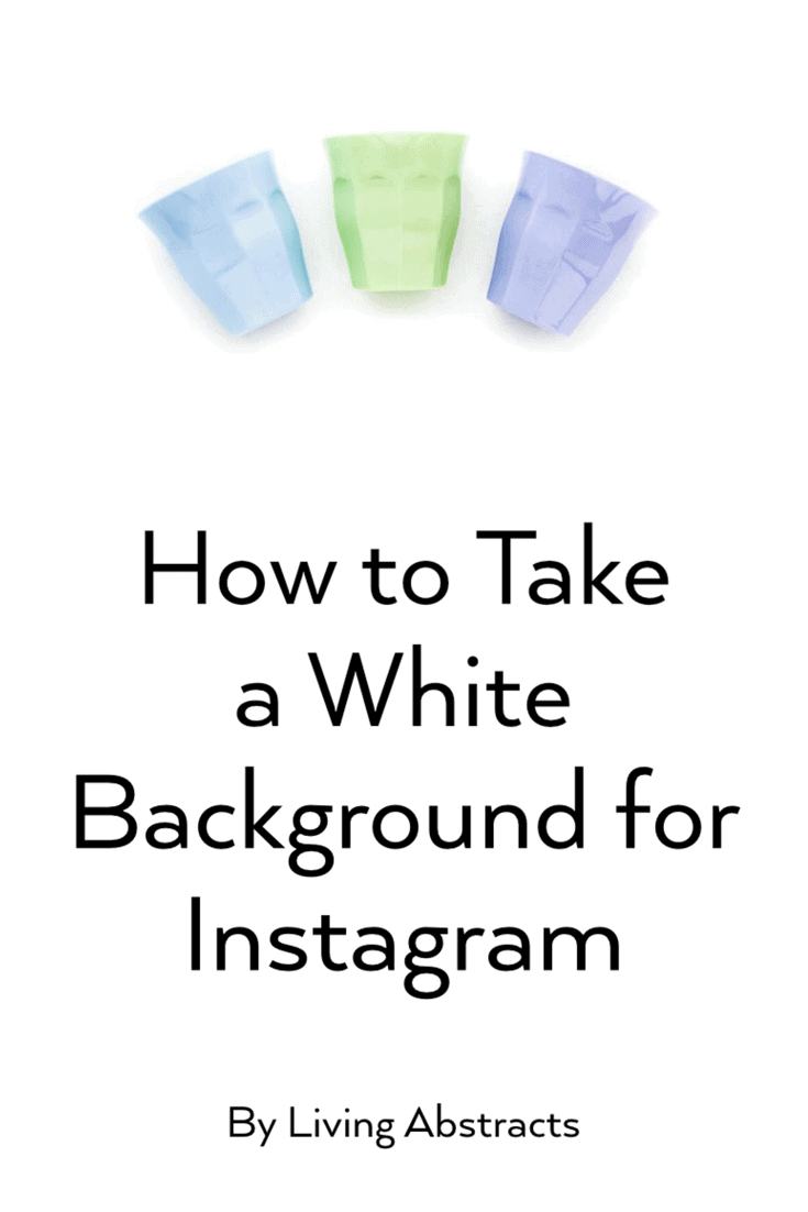 How to take Instagram photos with clean white backgrounds using only your phone.