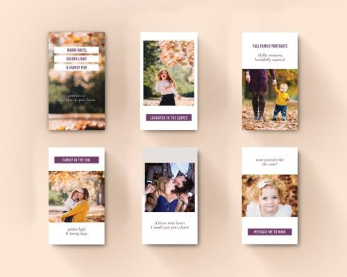 Instagram Stories template autumn sings mock-up