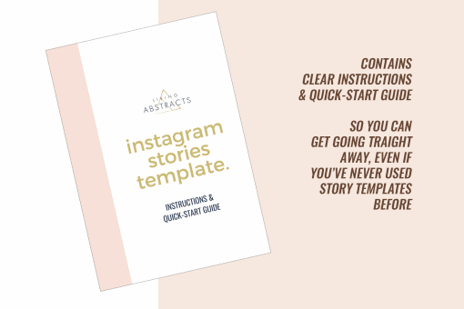 Instructions and quick-start guide for Instagram Stories Templates is part of this template pack.