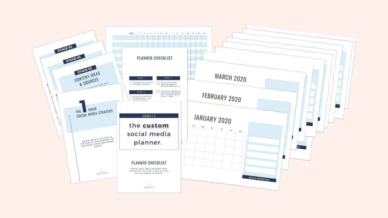 Social media planner for creative businesses - giving you a custom plan for your social media.