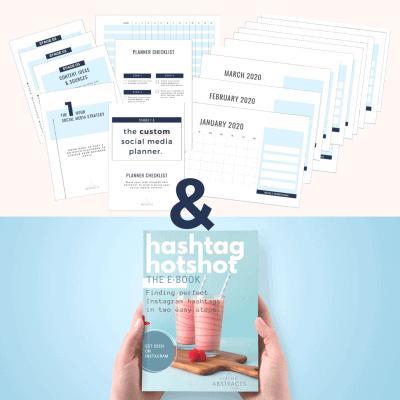 Social media planner and Hashtag Hotshot - nail your social media and your hashtags for Instagram.