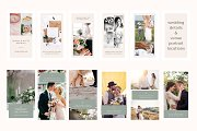 Instagram story templates for wedding photographers - Canva template.