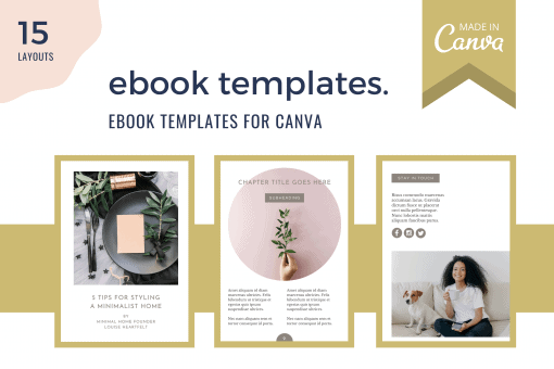 Ebook template for Canva - 25 layouts to help you create an ebook in Canva quickly and easily.