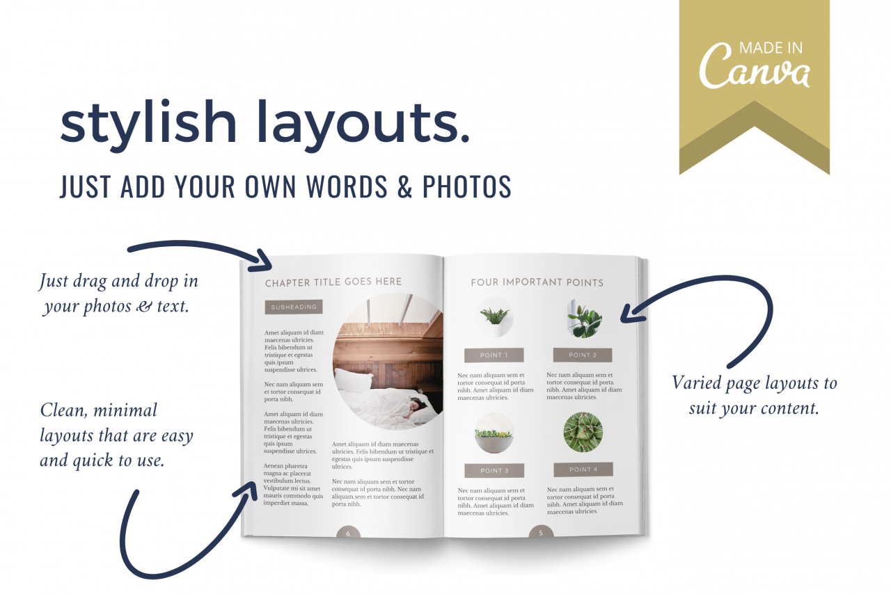 Add professional design to your ebook using these 25 templates and free online design tool Canva. Create your ebook in minutes and share as a lead magnet, freebie or opt-in.