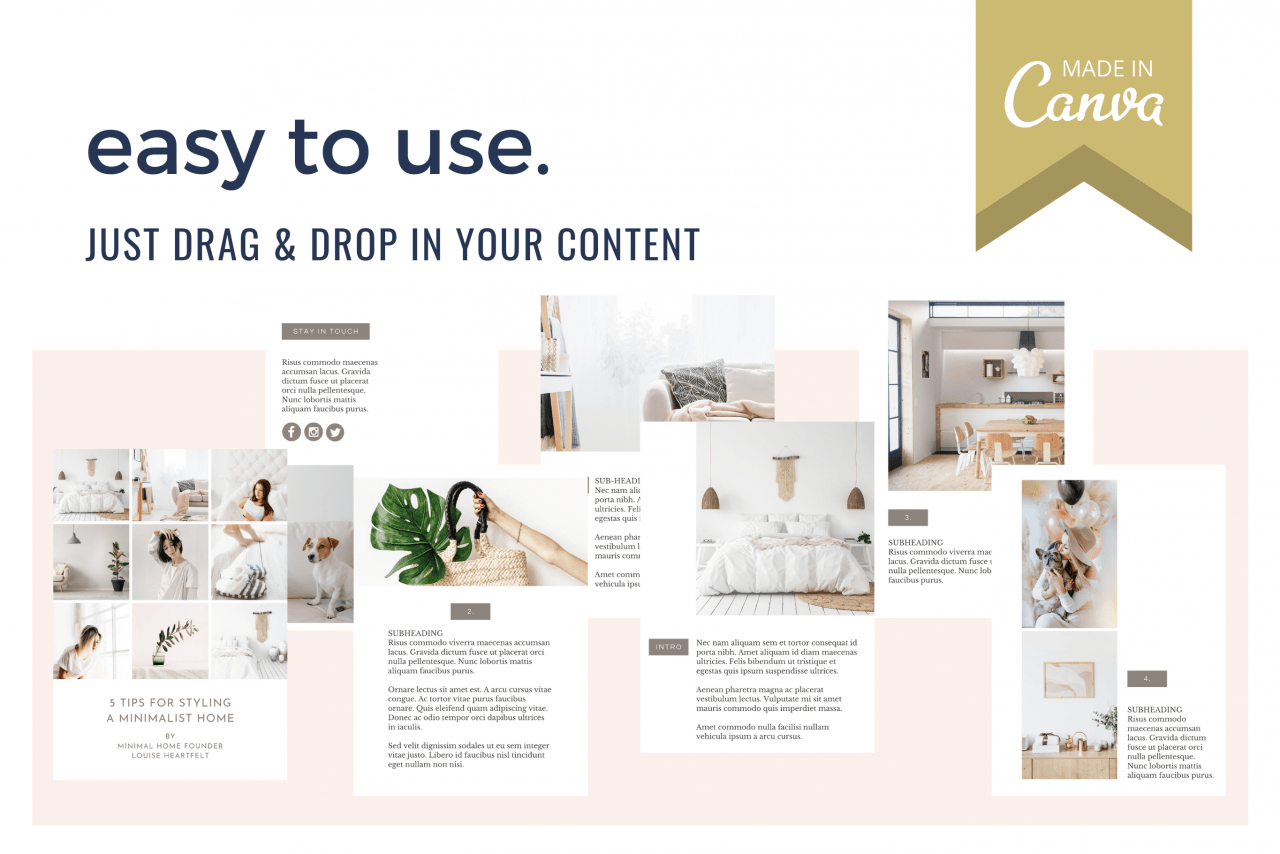 Create a PDF ebook in minutes with these mix and match ebook templates for free online design tool Canva.