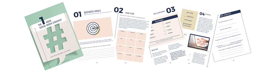 Free social media strategy workbook you can print and fill out.