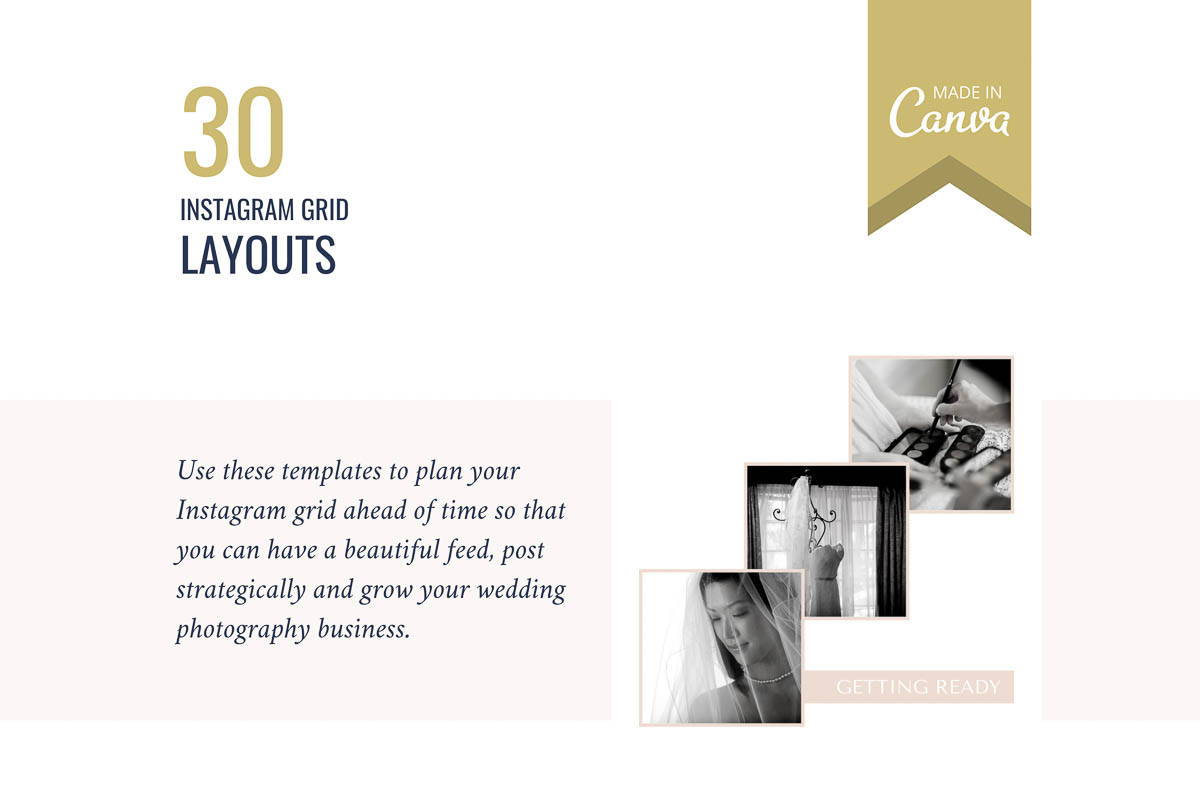 30 Instagram layouts mean you can create a whole month of posts in one go, without reusing a layout!