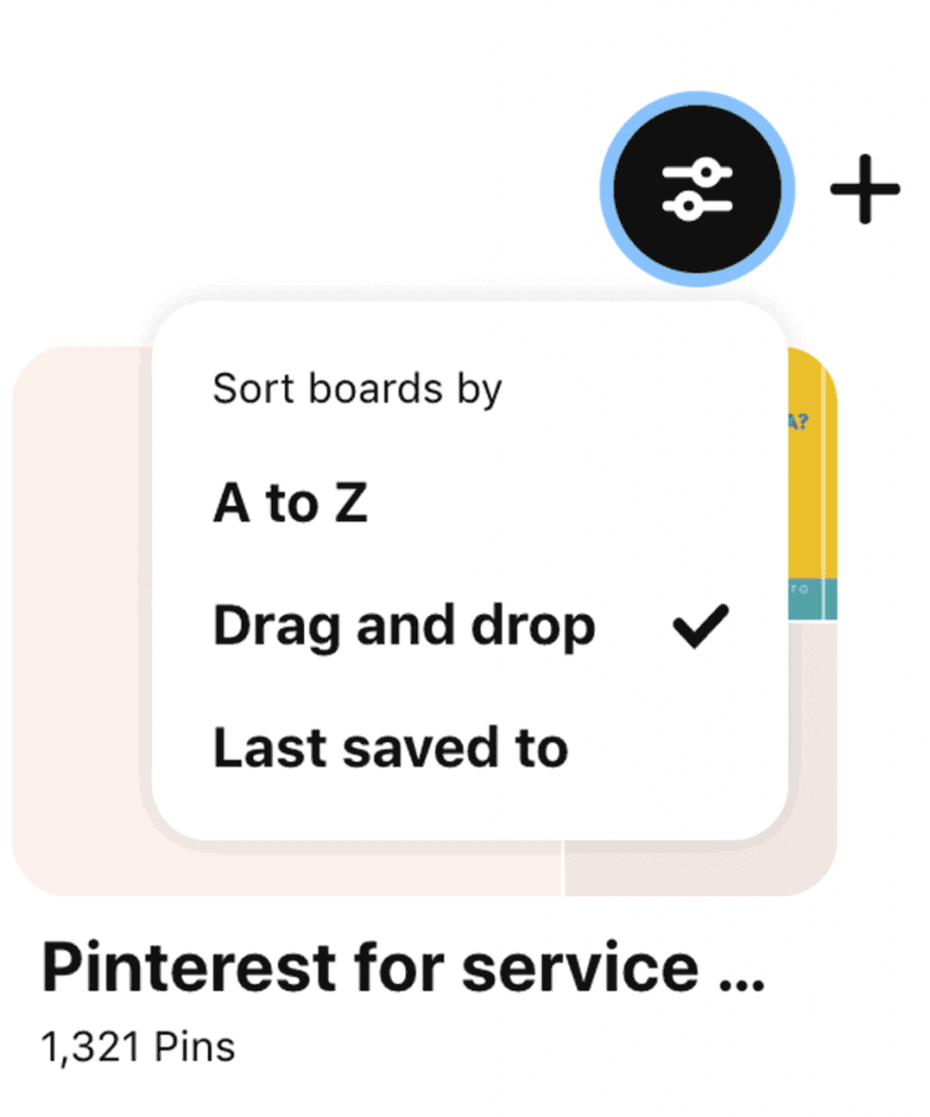 How to rearrange Pinterest boards with drag and drop.